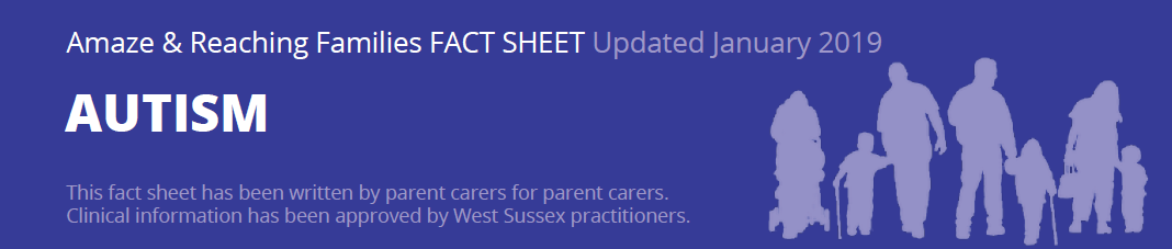 Header image from Factsheet - showing title (Autism) and Update in 2019